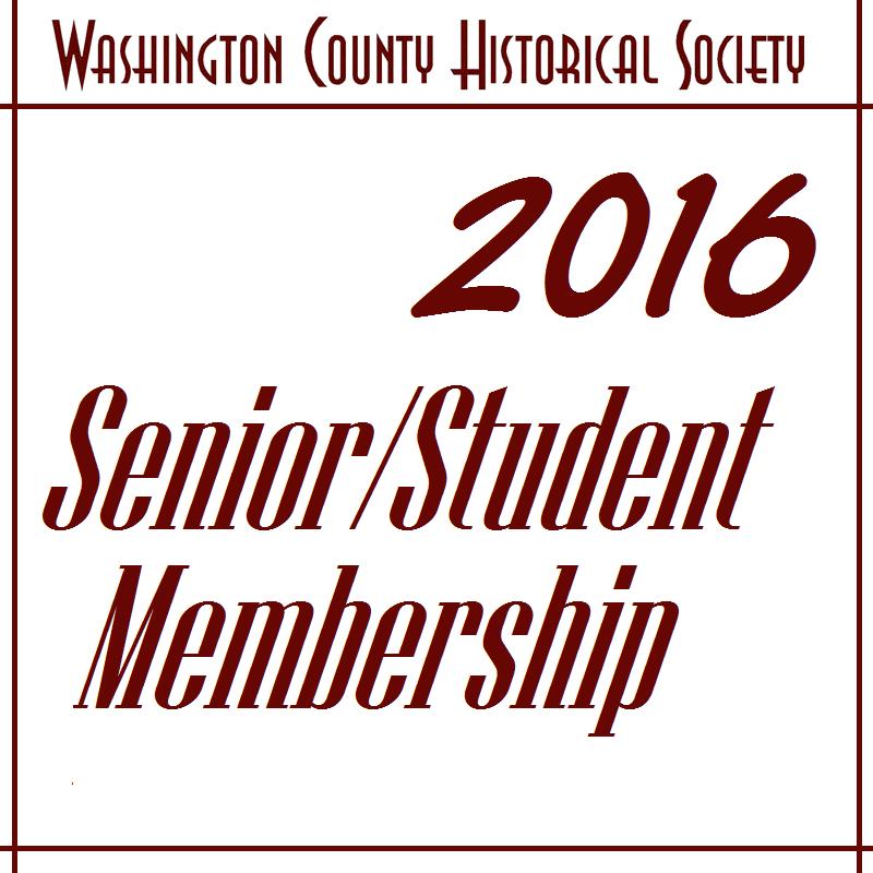 WCHS Senior/Student Membership - 2017