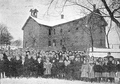 "This photo appeared in the November 9, 1898 The Stillwater Gazette (weekly), part of the ""Our County Public Schools Series"" column (see this issue for a detailed history of the school district up to that time)."