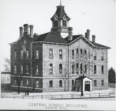 Sketch of Stillwater's Central School Building