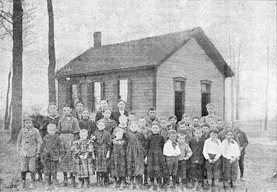 Greeder School students in circa 1898.