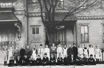 Greeley School students in circa 1910.