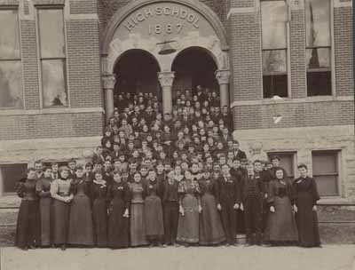 Stillwater High School junior and senior classes, 1895-1896.