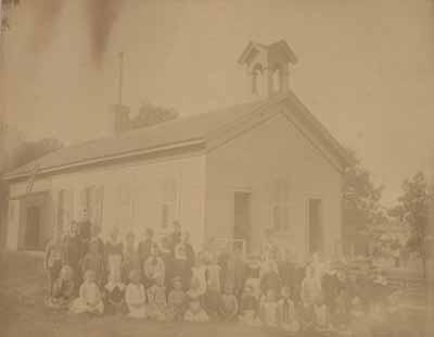 Schulenburg School students circa 1891.