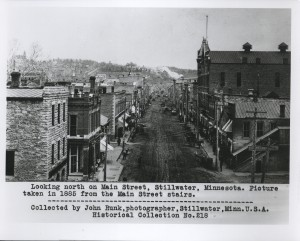 Stillwater Main Street looking North 1885