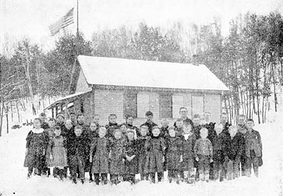 "This photo appeared in the April 12, 1899 The Stillwater Gazette (weekly), part of the ""Our County Public Schools Series"" column (see this issue for a detailed history of the school district up to that time)."