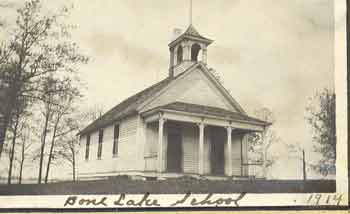 Bone Lake School in 1914.