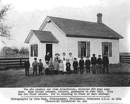 Eder School. Photo by John Runk, courtesy Minnesota Historical Society. (Neg. #1251)