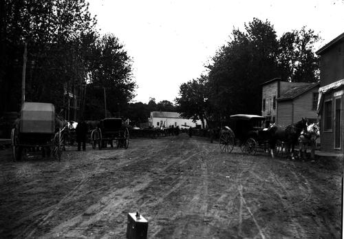 Lake Elmo Main Street in 1906.