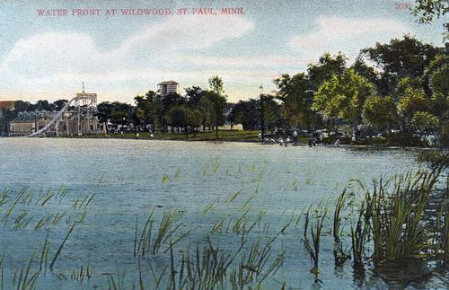 A postcard showing Wildwood Amusement Park.