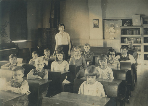 Marty School students in the 1950s.