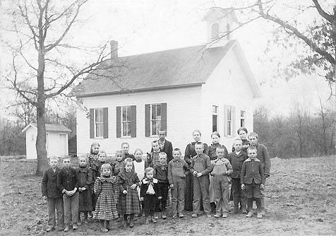 Pfiffner School students in 1898.