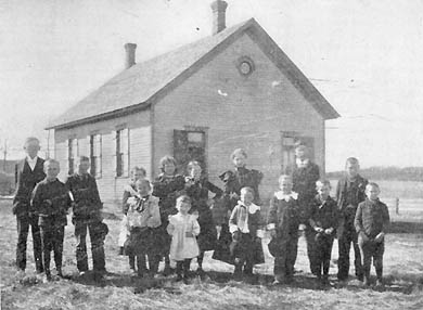 Stillwater Junction School students in 1899.