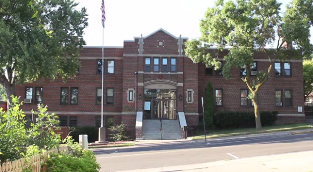 Street view of the Stillwater Armory