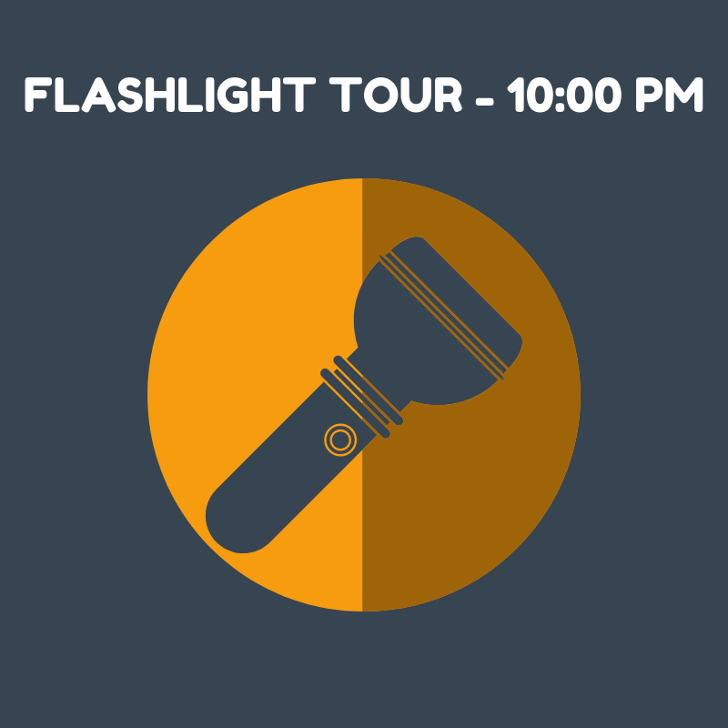 Flashlight Tour - 10:00 PM SOLD OUT